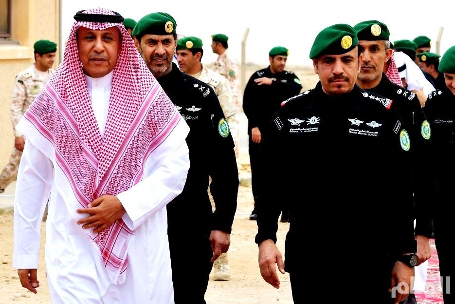 بالصور: رئيس المراسم الملكية يزور مدينة التدريب بالحرس الملكي