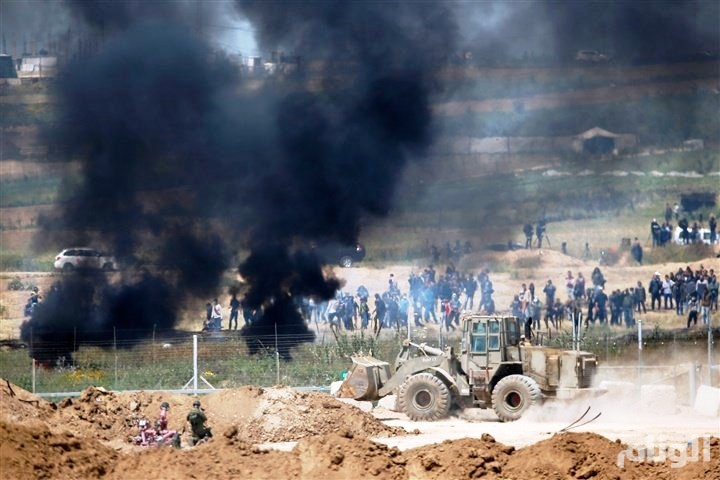 إصابة «40» فلسطينياً بالرصاص شرقي غزة