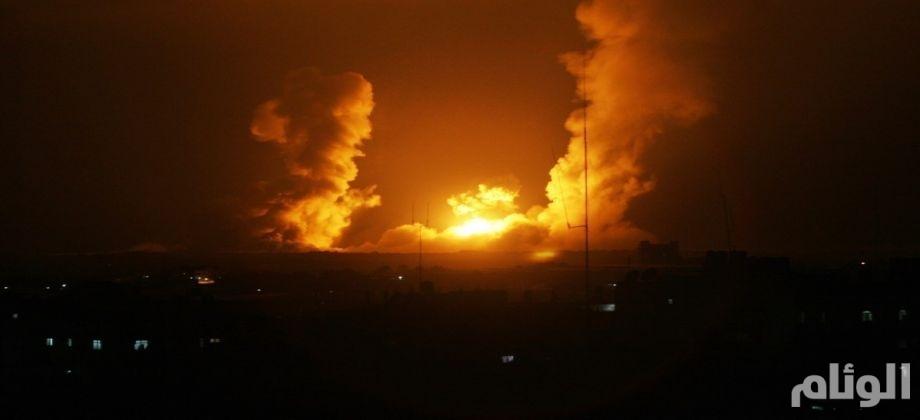 استهداف مستودعات ذخيرة في سوريا من طائرة اسرائيلية