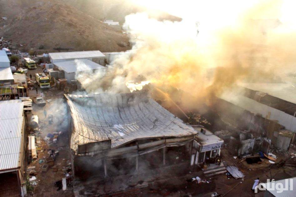 الدفاع المدني يسيطر على حريق محل بحراج المعيصم