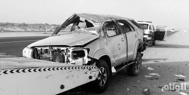 إصابة «7» من عائلة واحدة بحادث بطريق الرياض -الطائف