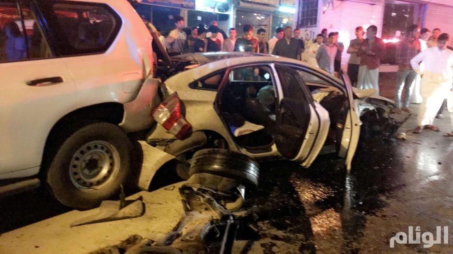 إصابة «4» في تصادم عنيف بالطائف