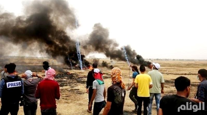 350 مصاباً في «جمعة عمال فلسطين»