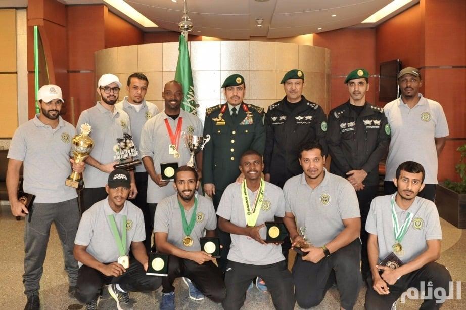 بالصور: رئيس الحرس الملكي يكرم الأبطال في الشؤون الرياضية