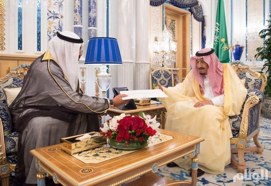 رسالة خطية من أمير الكويت لخادم الحرمين الشريفين