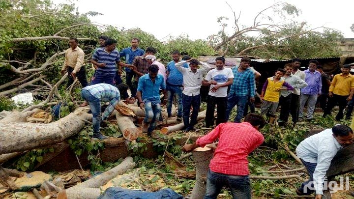 مقتل وإصابة «46» شخصًا في عاصفة بشمال الهند