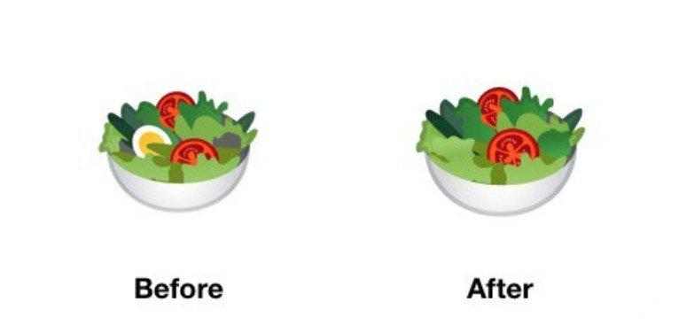 """جوجل تعدّل """"إيموجي السَلَطة"""" احتراما لمشاعر النباتيين"""