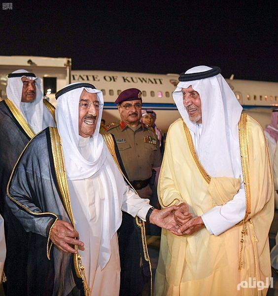 أمير  الكويت يصل إلى جدة