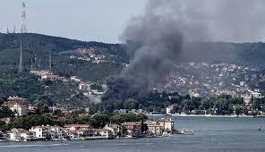 حريق ضخم بموقع لتصوير المسلسلات في إسطنبول