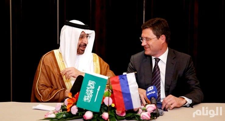 على هامش المونديال: الفالح ونوفاك يبحثان اتفاق أوبك النفطي