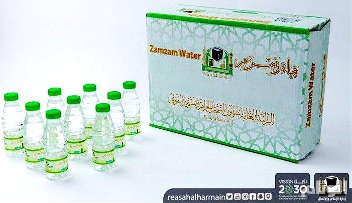 رئيس شؤون الحرمين يدشن عبوات مياه زمزم الجديدة