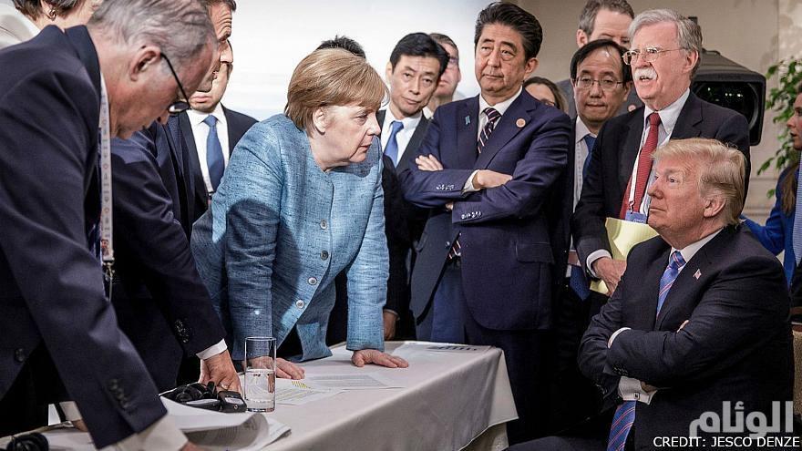 """ترامب يكشف قصة صورة """"ميركل"""".. وأهم ماتوصل له مع """"كيم"""""""