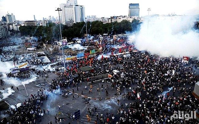 إحتجاجات غاضبة على حكم أردوغان