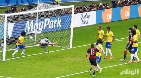 البرازيل تسلم ألمانيا أحد مرميي ملعب «7-1»