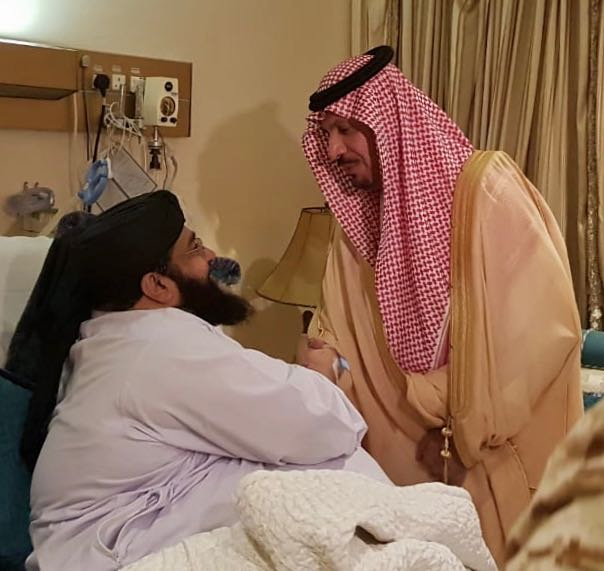 وزير الحرس الوطني يطمئن على صحة الشيخ الأشرفي