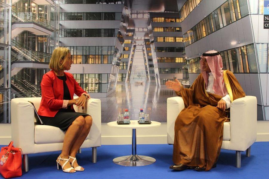 عادل الجبير يلتقي الممثلة العليا للاتحاد الأوروبي للشؤون الخارجية