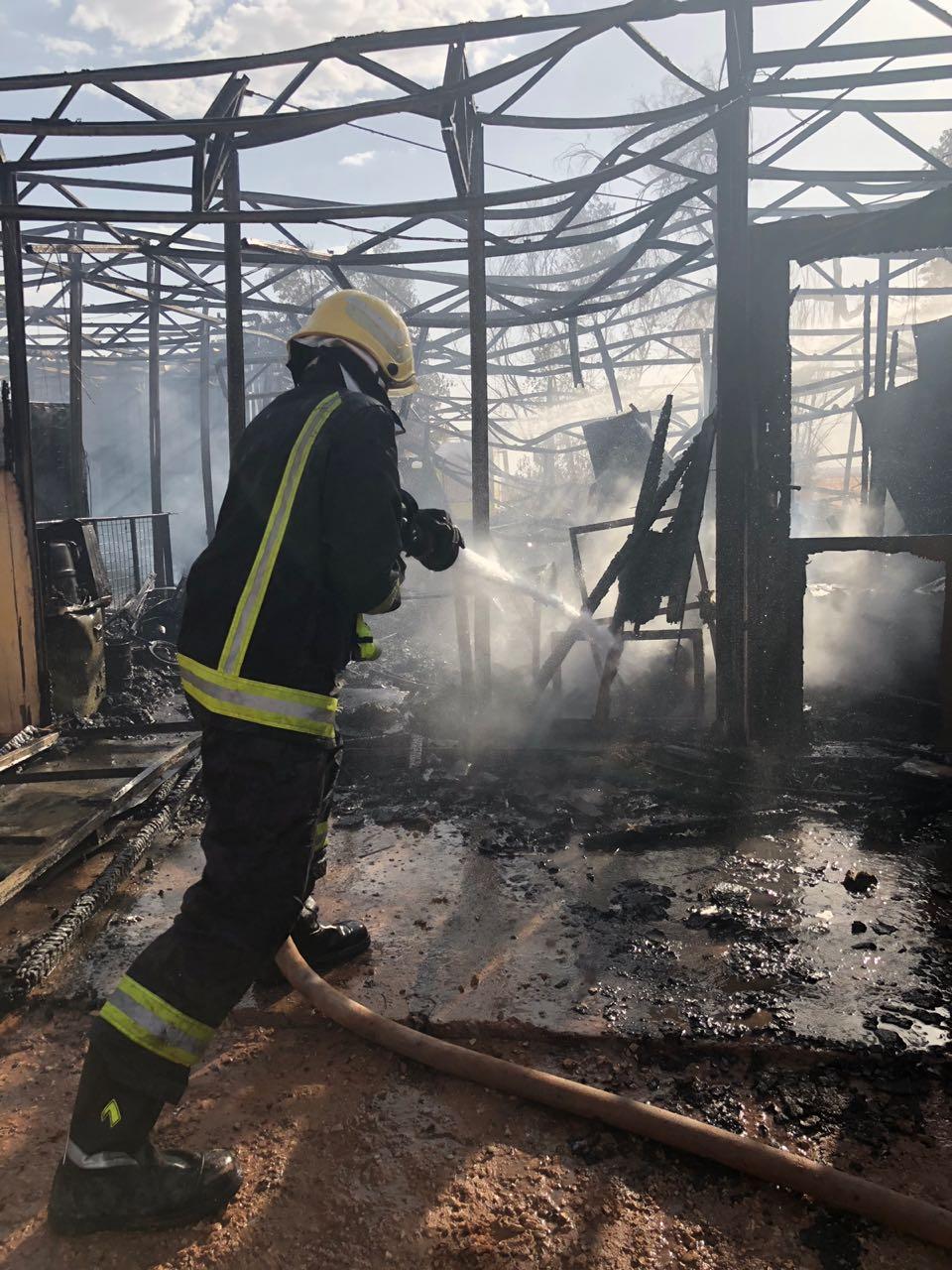 حريق في مشروع دواجن بالقصيم
