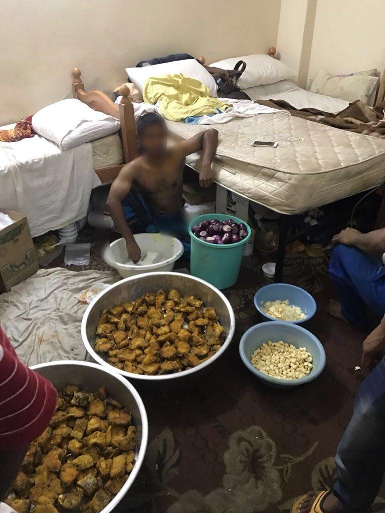شاهد .. ضبط وافدين يعدون وجبات مجهولة المصدر للحجاج والزوار في قباء