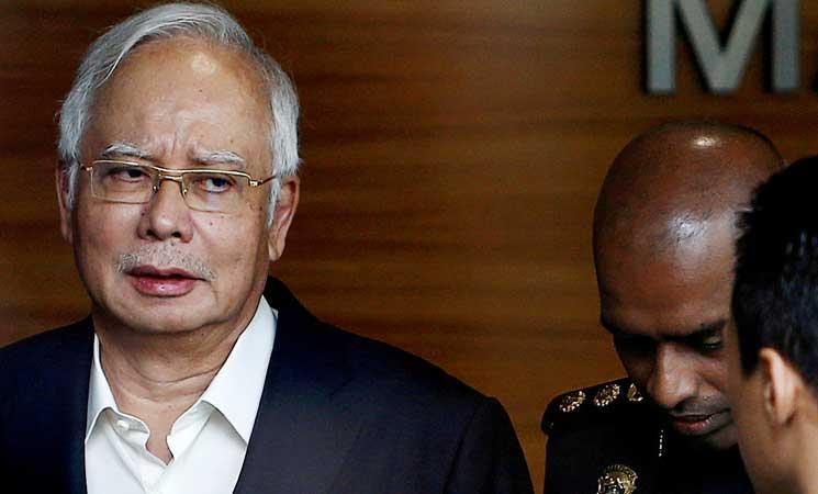 توقيف رئيس الوزراء الماليزي السابق نجيب عبد الرزاق بتهمة الفساد