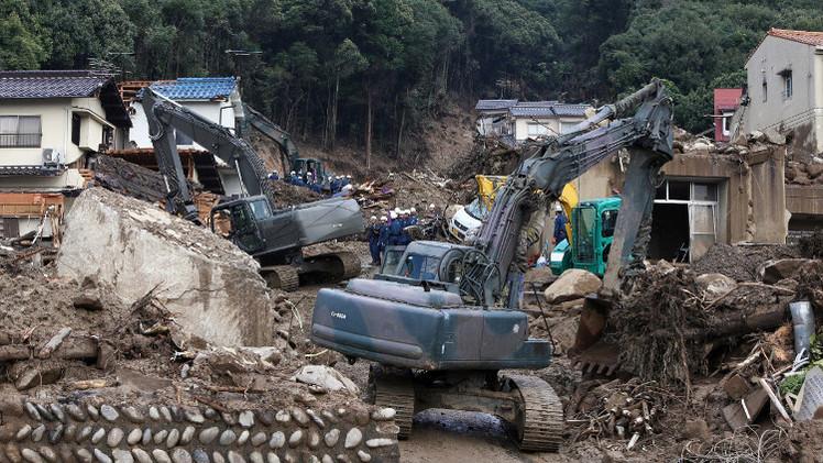 «126» قتيلاً في الانهيارات الأرضية باليابان