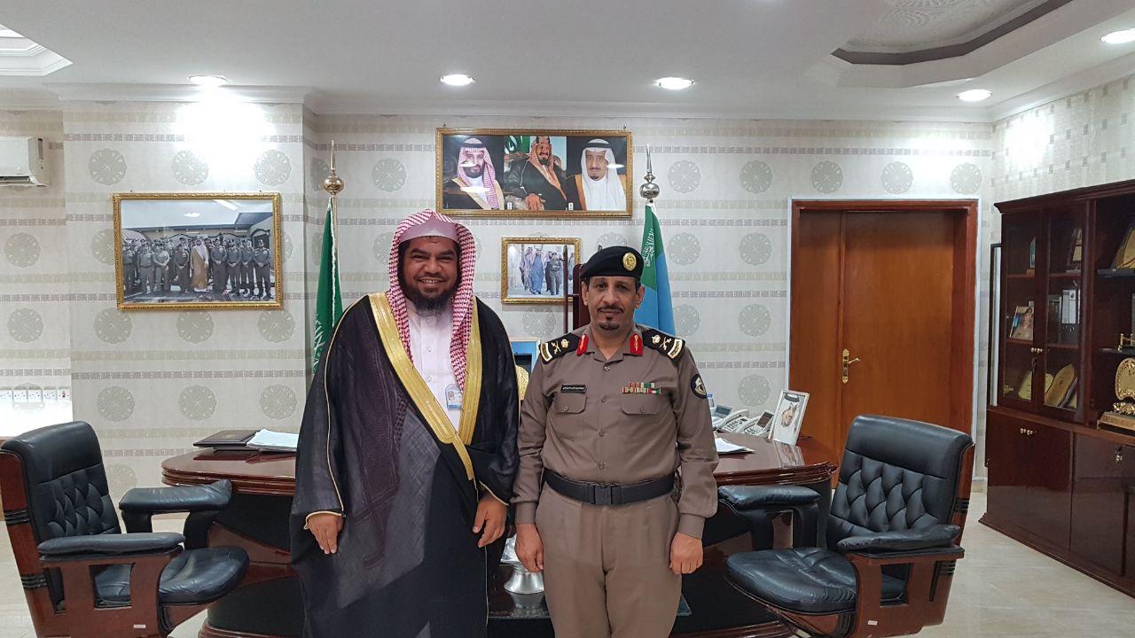 مدير عام هيئة الحدود الشمالية يزور مدير شرطة المنطقة
