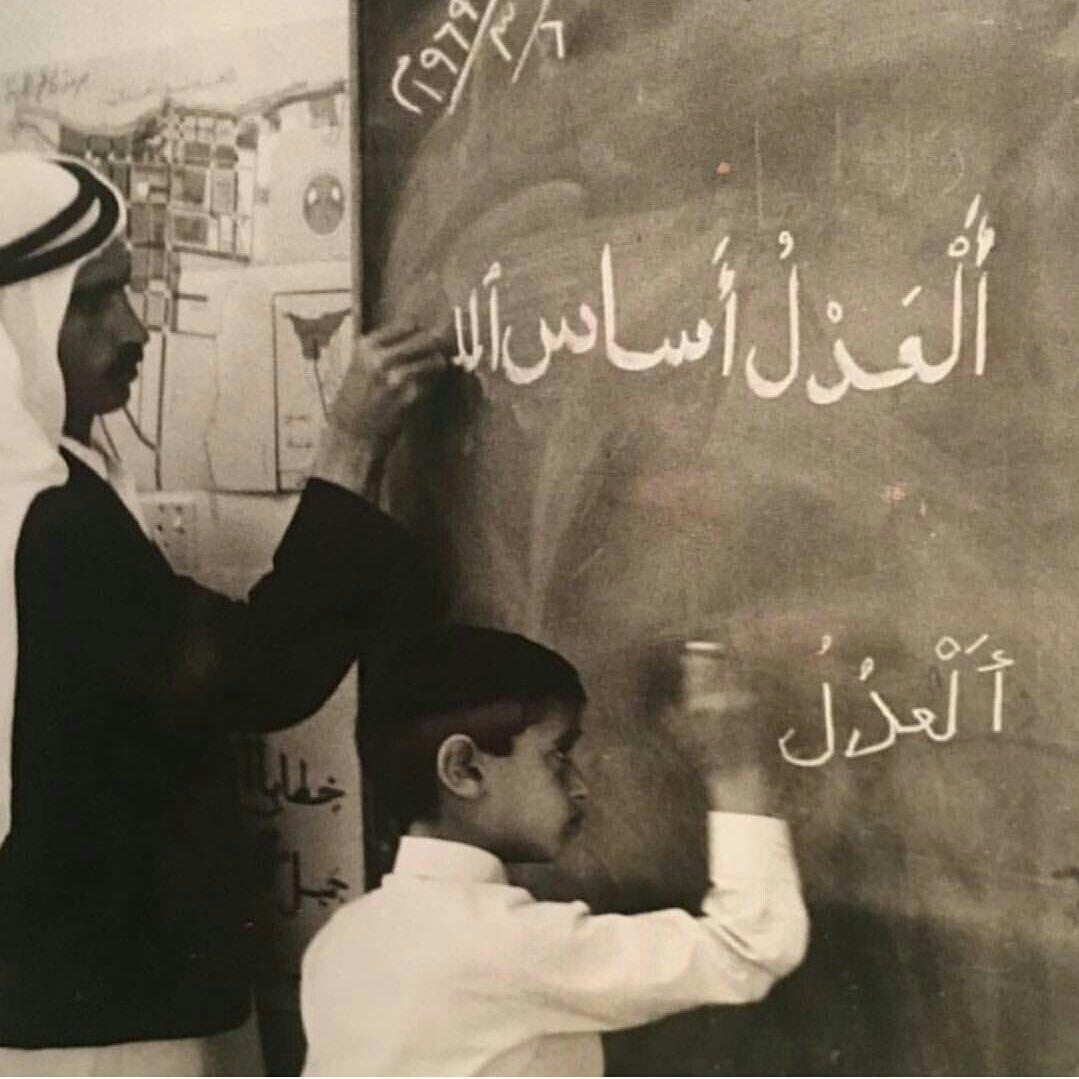 شاهد.. صورة نادرة لولي عهد أبو ظبي