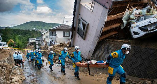 كارثة في اليابان.. مقتل 156 شخصا إثر الأمطار