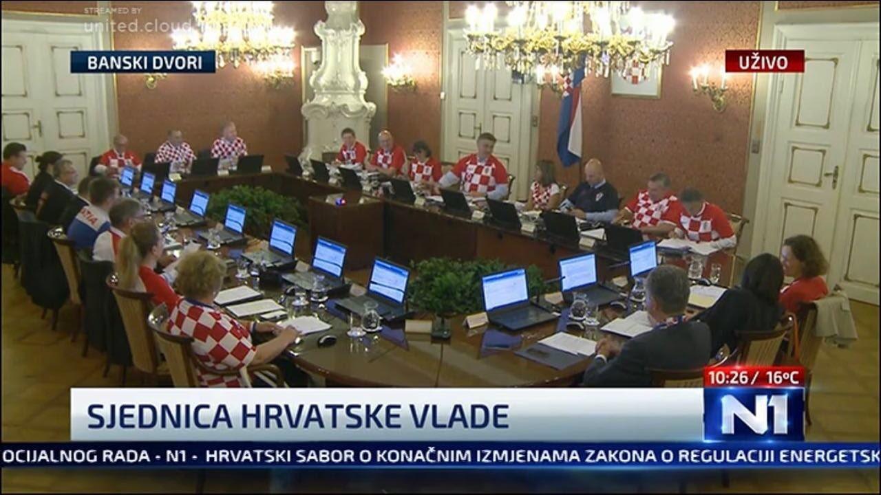 مجلس الوزراء الكرواتي يعقد اجتماعه بلباس المنتخب الوطني