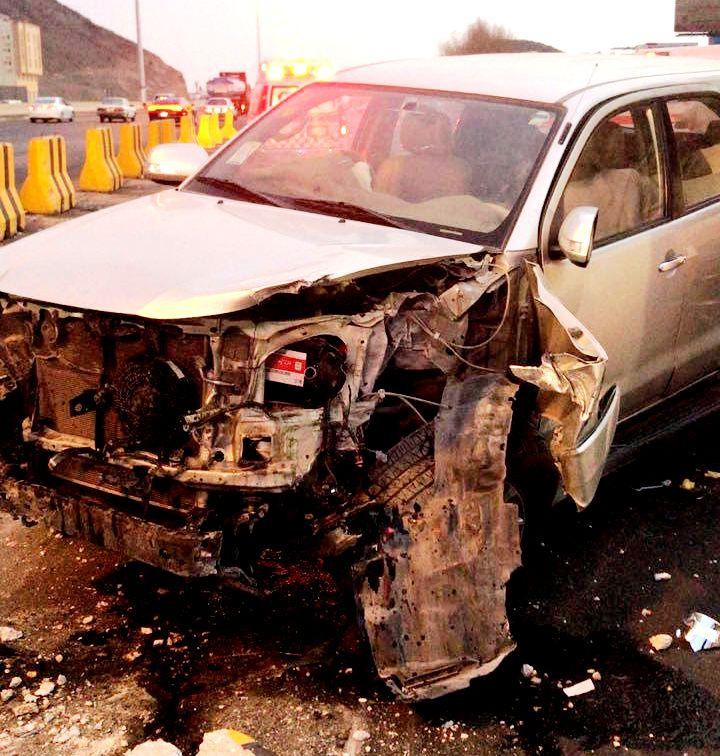 حادث تصادم يصيب ثمانية أشخاص بــ«نوارية مكة»