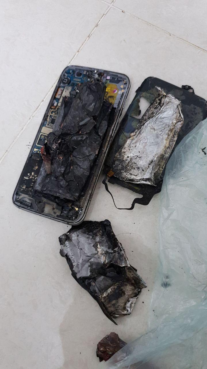 «جالكسي» يروّع أسرة في الرياض.. إنفجاره كاد أن يسبب كارثة