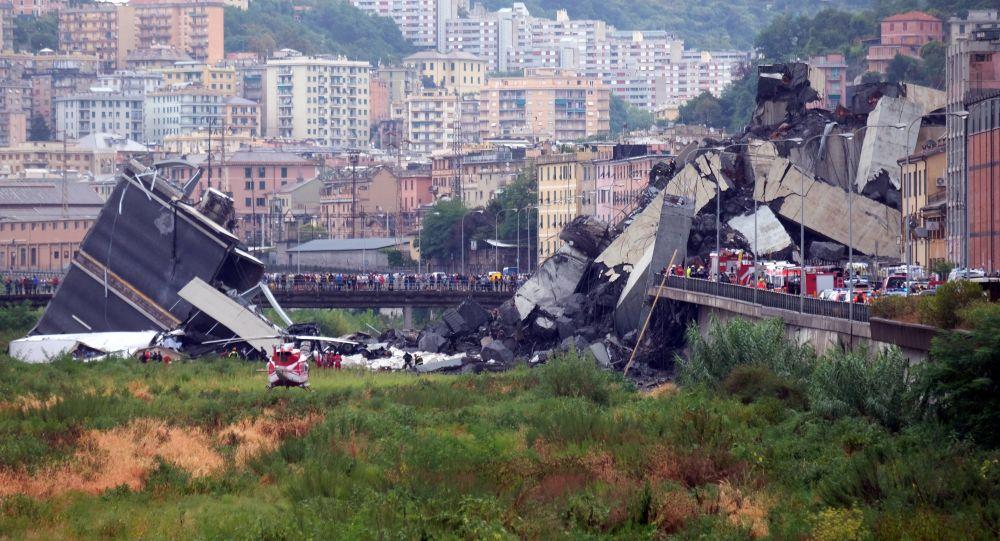 اخر حصيلة: 41 قتيلاً بحادثة سقوط الجسر بجنوة الايطالية