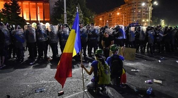 إصابة المئات خلال احتجاجات الفساد في رومانيا