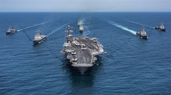 اجتماع عسكري بريطاني أمريكي في البحرين لتأمين مضيق هرمز
