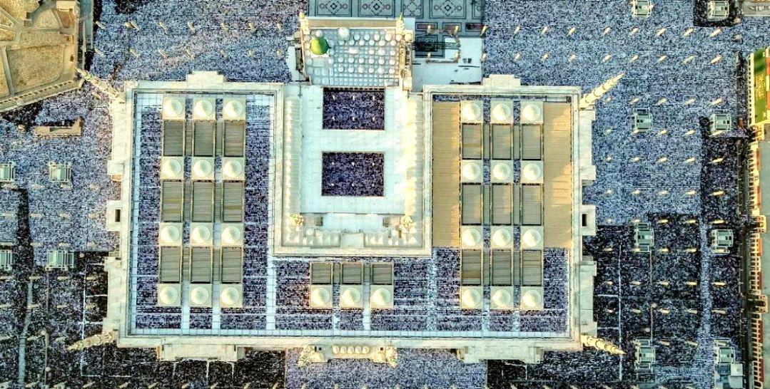 شاهد: صور مذهلة للمسجد النبوي
