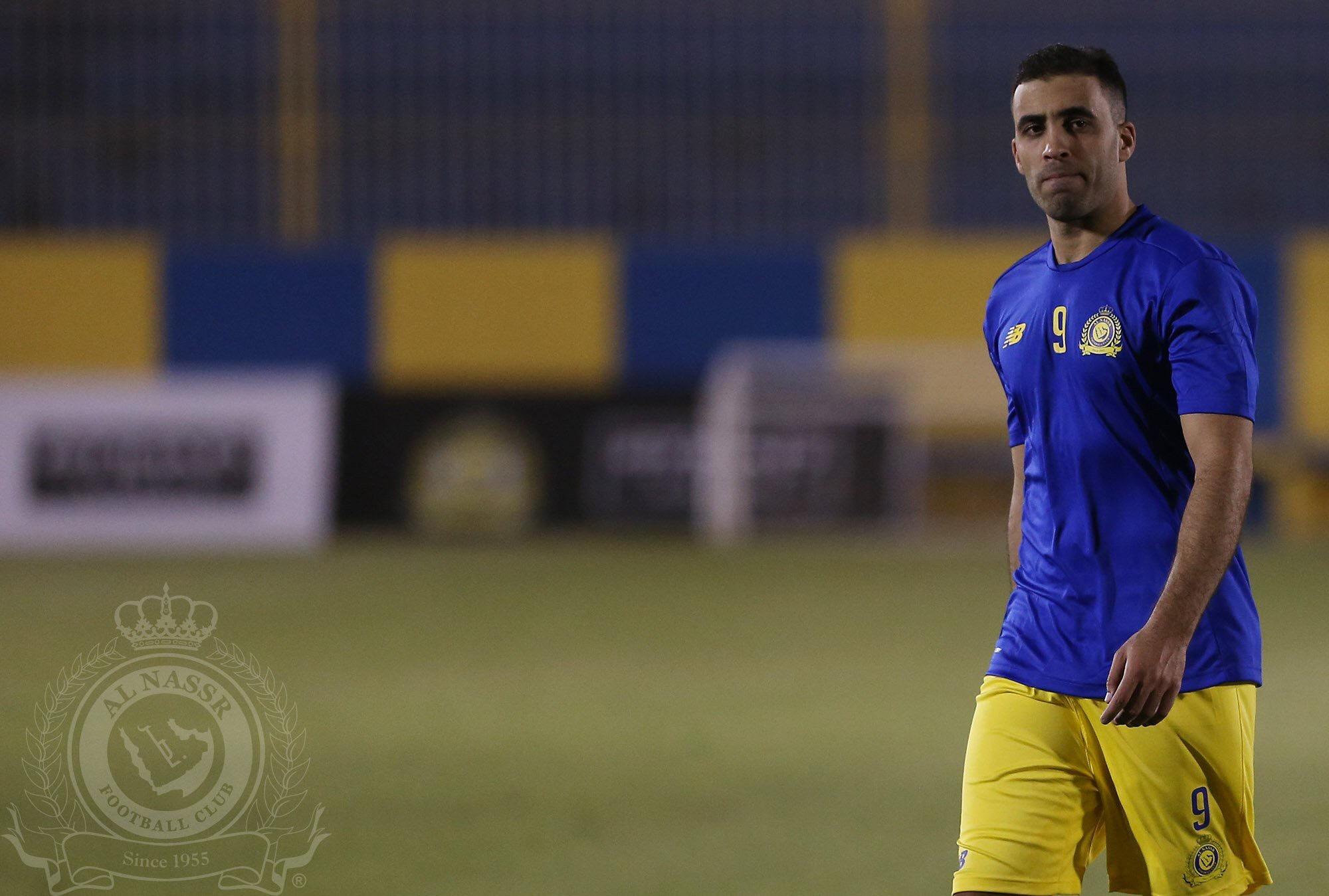 """""""كارينيو"""" يرحب بالمغربي """"حمدالله"""" و النصر يدشن المتجر الإلكتروني"""