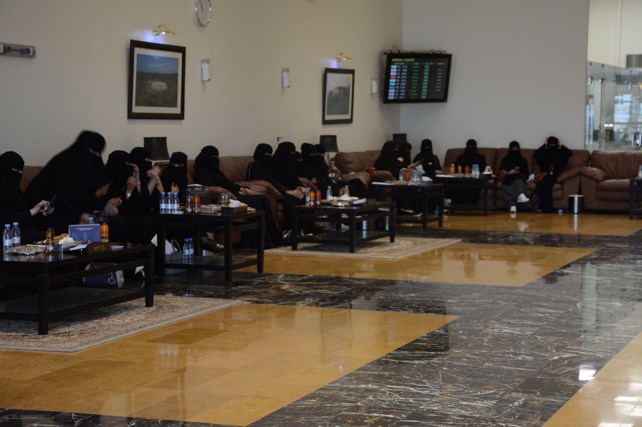 لأول مرة.. جامعيات يتدربن في مطار الطائف الدولي