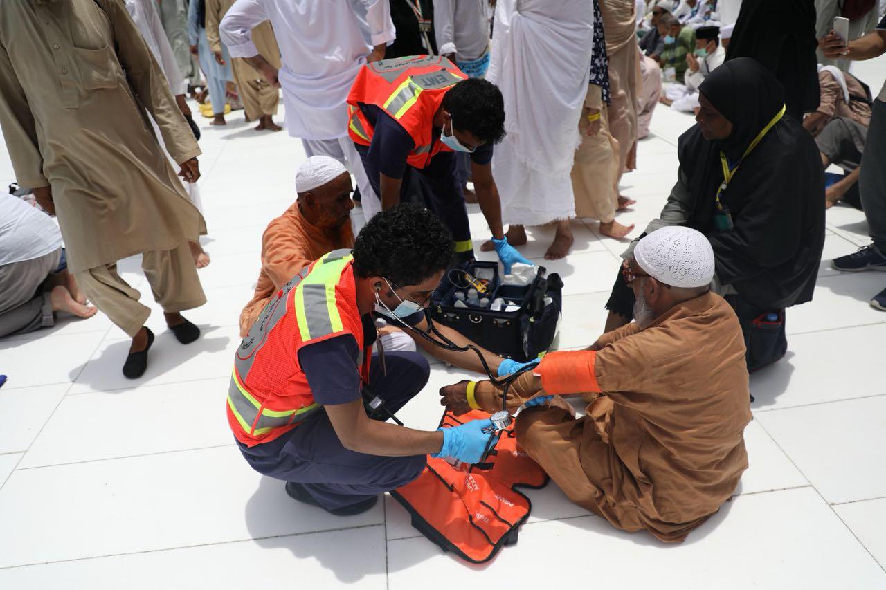 الهلال الأحمر السعودي يخصص 15 مركزًا إسعافيًا داخل المسجد الحرام