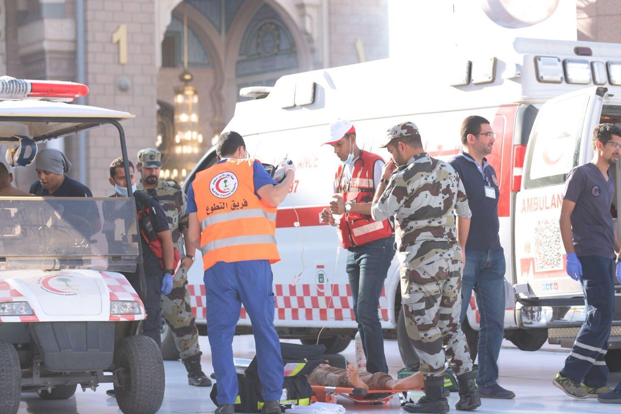 """الهلال الأحمر: 870 متطوعا يشاركون ضمن """"الفرق الإسعافية"""" بالمدينة خلال """"الحج"""""""