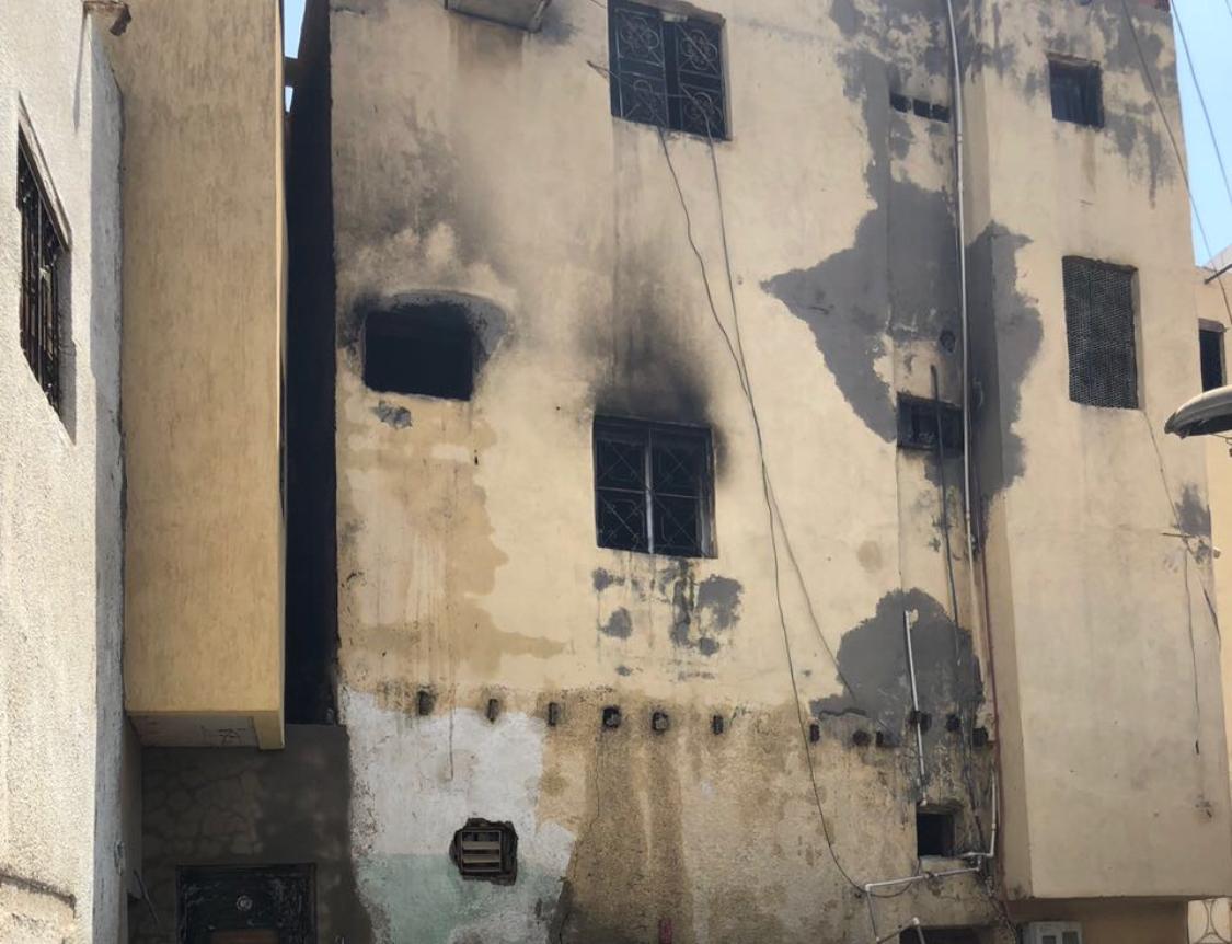 إصابة 6 أشخاص باختناق في حريق منزل شعبي بجدة