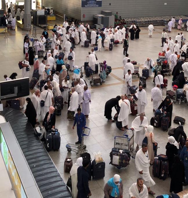 """""""السعودية للخدمات"""" تستقبل 1.383.744 حاجا من مطاري جدة والمدينة"""