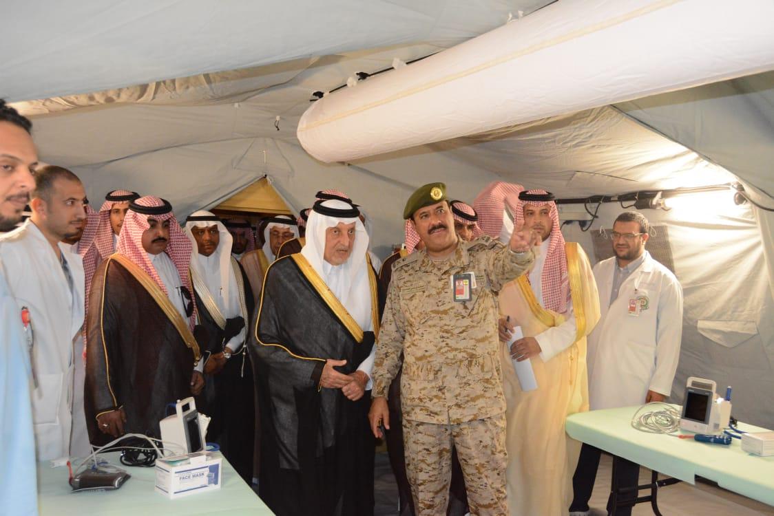 بالصور: «الفيصل» يتفقد مستشفى القوات المسلحة الميداني