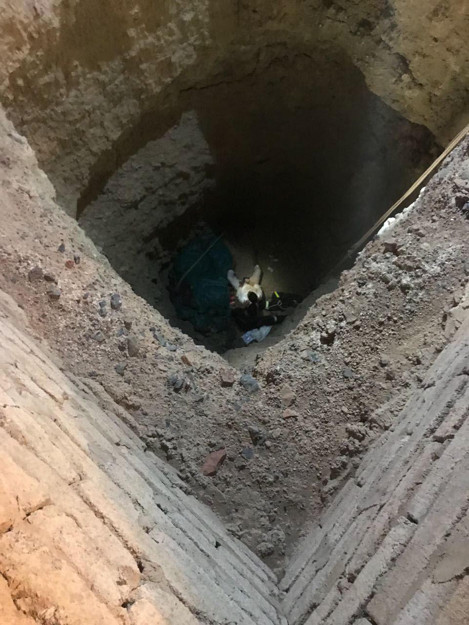بالصور: الدفاع المدني ينتشل شاباً من بئر مهجورة
