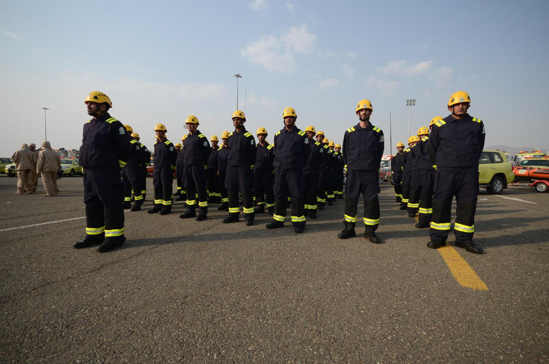 الدفاع المدني: أكثر من 18 ألف ضابط وفرد أمن و3000 آلية ومعدة لخدمة ضيوف الرحمن