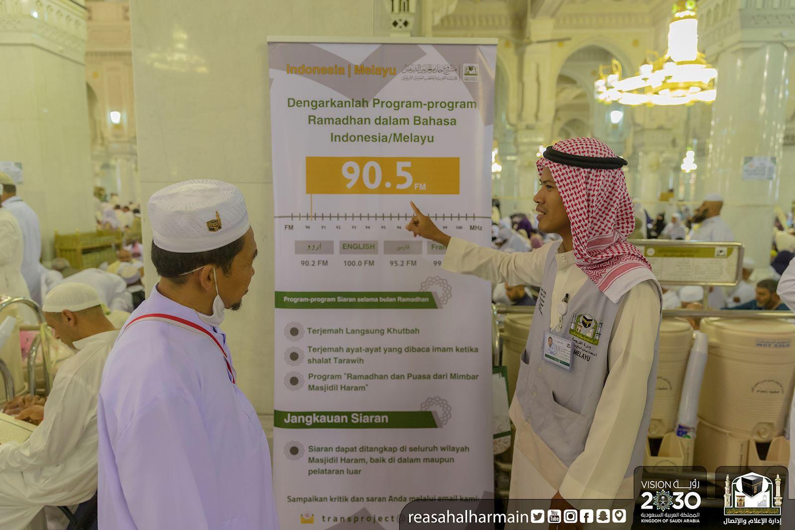 «25» كونتر في أروقة المسجد الحرام للإرشاد المكاني