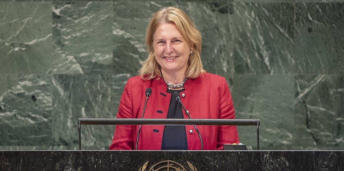 لماذا ألقت وزيرة خارجية النمسا كلمتها باللغة العربية أمام الأمم المتحدة؟