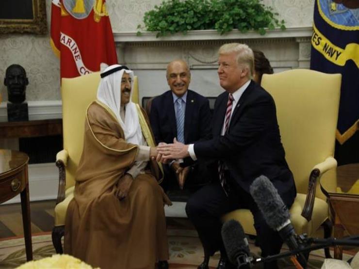 أمير الكويت يلتقي ترامب في البيت الأبيض