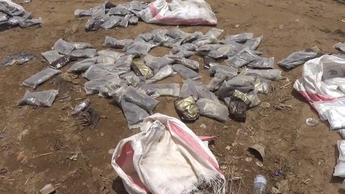 الجيش اليمني يضبط حوثيين حاولوا تهريب كمية كبيرة من الحشيش إلى المملكة