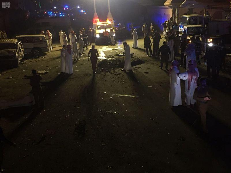 بالصور .. مدني نجران: إصابة 26 مدنيا بينهم طفلان إثر تناثر شظايا الصاروخ الحوثي