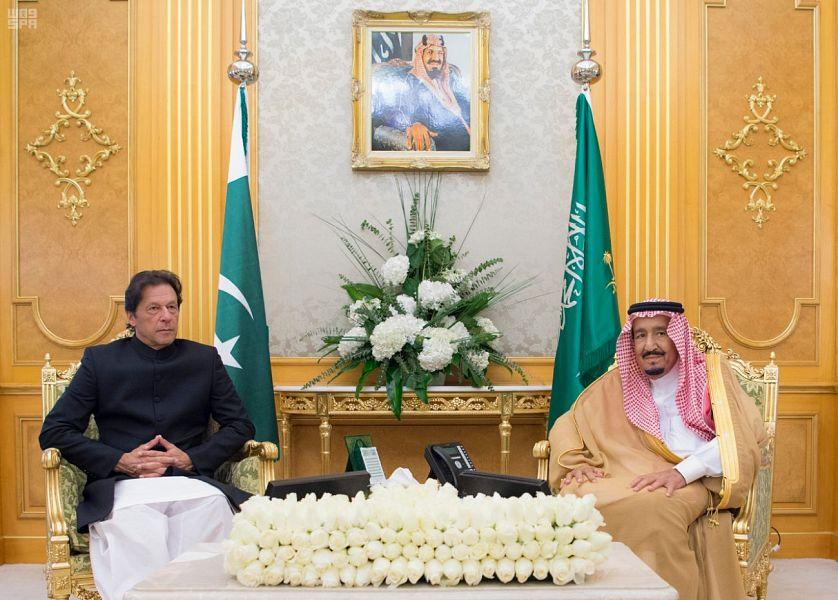 خادم الحرمين الشريفين يعقد جلسة مباحثات مع رئيس وزراء جمهورية باكستان
