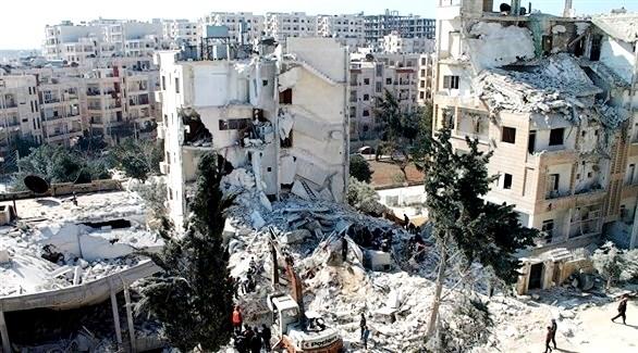 النظام السوري يدك إدلب وحماة بعشرات الصواريخ